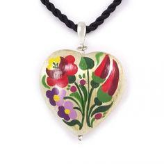 ZEMA kézzel festett szívmedál