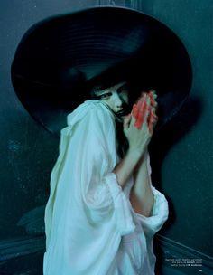 Agyness Deyn in 'Spooky' by Tim Walker for Love Magazine, S/S 2015