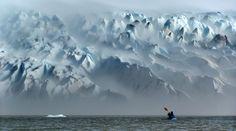 kayaking Patagonia.