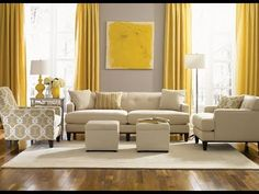 110 Living room designs ideas 2019 New Living Room Furniture and decoration Elegant small living room ideas designs, can be your reference when you are confused to choose the interior design of the right living Grey And Yellow Living Room, Curtains Living, Trendy Living Rooms, Beige Living Rooms, Living Room Grey, Yellow Curtains Living Room, Living Room Decor Gray, Living Decor, Living Room Designs
