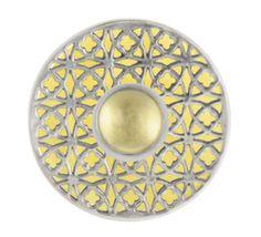 Ring Ding by Silberwerk, das Kombinationswunder aus Sterlingsilber: Basis-Ring 925er Silber, Scheibe Aquarell-Acryl gelb, Scheibe Andaluz offen, Top Jonglage Cabochon Lemon