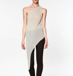 Zara - Asymmetrical Tunic (worn by Mads Rybak on The Lying Game)  I SERIOUSLY WANT THIS DRESS. IF ANYONE CAN FIND IT, LET ME KNOW