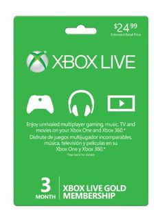 Xbox Live 3 Month Gold Membership for sale
