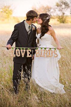 Love Birds Wedding Picture of Bride and Groom Love Birds Wedding, Wedding Pics, Wedding Bride, Diy Wedding, Dream Wedding, Wedding Day, Wedding Dresses, Wedding Things, Wedding Stuff