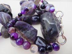 Purple Amethyst Gemstone Necklace OOAK Chunky by KBrownJewellery, £54.00 ww.kbrojewellery.blogspot.com