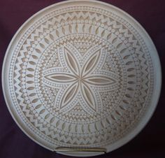 """16"""" Scoop Plate- by Marty Leenhouts, https://www.MyChipCarving.com"""