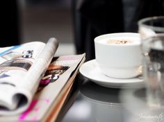 Cappuccino and magazines at the hairdressers