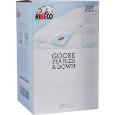 """Ribeco"" Double 13.5 Tog Goose Feather & Down Duvet - TK Maxx"