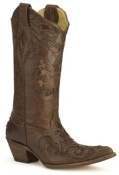 Corral Chocolate Lizard Inlay Western Cowgirl Boots - Pointed Toe available at Corral Cowgirl Boots, Western Boots, Cowboy Boots, Country Boots, Western Style, Cute Shoes, Me Too Shoes, Cowgirl Chic, My Horse