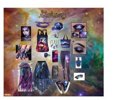 """""""Galaxy"""" by anna1820 on Polyvore featuring HVBAO, Rastaclat and WithChic"""
