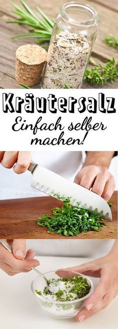 Kräutersalz selber machen – so geht's Simply made by yourself, the salt refines all dishes! Herb Recipes, Healthy Recipes, Drink Recipes, Diy 2019, Sauce Barbecue, Diy Food, Chutney, Spice Things Up, Food Inspiration