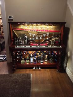 Piano Bar Re-purposed Upright Piano by GTMWoodWorking on Etsy