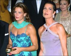 Princess Stephanie and Princess Caroline attended a banquet held in Moluogemo Carlo on August 8, 1997