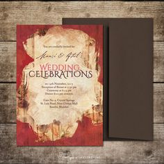 Red and Brown Chocolate Indian Wedding Invitation by Soumya's Invitations