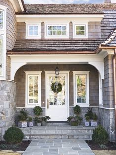 30 Front Door Ideas and Paint Colors for Exterior Wood Door Decoration or Home… Your home front door decoration is an important element of modern house exterior design and home staging House Design, Cedar Shake Roof, Nantucket Style, Exterior Wood, Wood Exterior Door, House, Exterior Design, Front Door Design, House Exterior