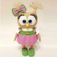 Crochet For Children: Cute Owl in Dress Amigurumi - Free Pattern