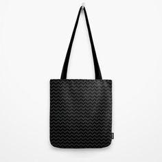 Schwarz und grau klein Chevron  Grocery Bag  von ShelleysCrochetOle