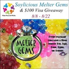 Enter to #Win Soylicious Melter Gems and a #Visa Gift Card on Everyday Erica!! http://everydayerica.com/diamond-cash-giveaway-soylicious-melter-gems-and-visa-gift-card-giveaway/