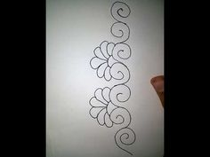 Rangoli Borders, Rangoli Border Designs, Rangoli Designs Images, Wall Painting Decor, Good Morning Happy, Hand Embroidery Stitches, Free Motion Quilting, Quilting Designs, Flower Decorations