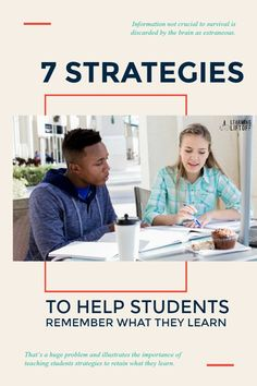 It is surprising how common it is for current school kids to learn a concept or fact in class early in the week and completely forget it by week's end—or even day's end. Student Success, School Kids, Educational Technology, Homeschool, Forget, Facts, Concept, How To Get, Teaching