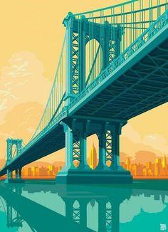 Manhattan Bridge NYC - Impression sur toile
