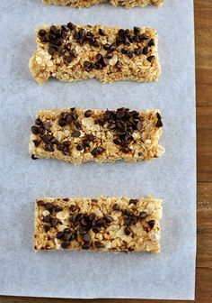Chewy Homemade Granola Bars- I replaced the butter with coconut oil, the brown sugar with maple syrup, and the regular rice crispies with with brown rice puffed cereal.  I found it a little too sweet.  Next time I will cut down on the maple syrup, and try adding natural peanut butter and maybe some almonds