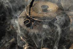 Steaming tea kettle | Rustic vintage kettle