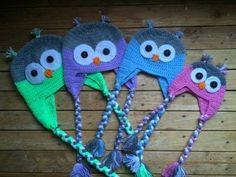 Tuto crochet: Bonnet Hibou (toutes tailles) / Owl beanies knitting (all sizes) - YouTube