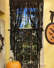 of 75 crepe paper curtains these creepy crepe paper curtains are a simple and inexpensive way to spook up your decor for halloween - Decorating For Halloween Party