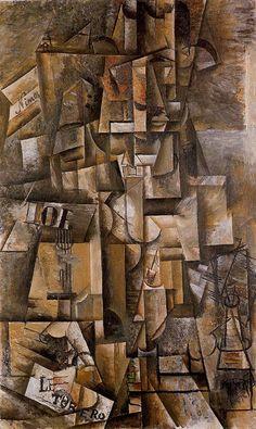 The aficionado (The torero), 1912, Pablo Picasso. Size: 135x82 cm Medium: oil on canvas