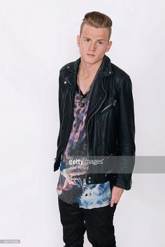 Tristan Evans from the band The Vamps is photographed for Word Up! on June 18…