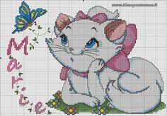 Aristocats Marie cross stitch 2-3