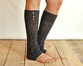 LouLou - Graphite: Open-work Leg Warmers w/ antique gold metal buttons - Legwarmers (item no. from Grace and Lace. Saved to Things I want as gifts. Grace And Lace, Cute Boots, Lace Knitting, Knit Lace, Leggings, Boot Socks, Metal Buttons, Couture, Swagg