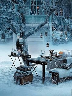 Snow Picnic, Stockholm, Sweden. you have to love the idea of this !!