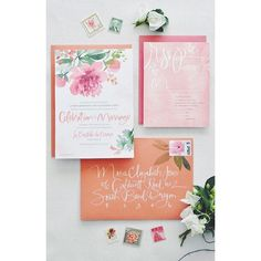 great vancouver wedding Calligraphy is the best and we also love watercolor, these invites are gorgeous!#vancouverelopement #justustwo #love #vancity #pinterestpic  #vancouverwedding #vancouverweddingstationery #vancouverwedding