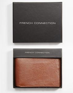 Wallet by French Connection Matte, leather outer Fold design Internal card slots Wipe clean 100% Real Leather