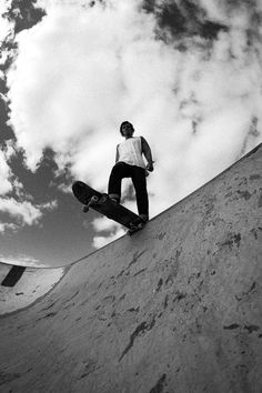 Skateboarding black and white photography