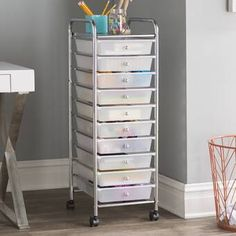 Great for Storage Chest by Rebrilliant storage-sale from top store Craft Storage Cart, Plastic Storage Drawers, 5 Drawer Storage, Arts And Crafts Storage, Rolling Storage, Closet Storage, Storage Chest, Toy Storage, Makeup Storage