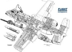 Fairchild Republic A-10A Thunderbolt II Cutaway