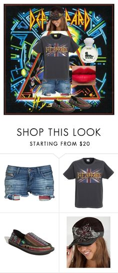 """""""Concert Fashion"""" by billiej-712 ❤ liked on Polyvore featuring Rockstar Sushi, sanuk, NARS Cosmetics, The Body Shop and Lois Hill"""