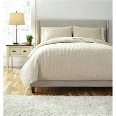 Signature Design by Ashley Stitched 3 Piece Comforter Set