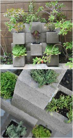 concrete block homes | Garden Planter - 17 Creative Ways to Use Concrete Blocks in Your Home