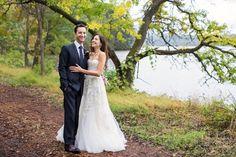 Floral Design: Poppies & Posies - http://www.stylemepretty.com/portfolio/poppies-posies Wedding Dress: Reem Acra - www.reemacra.com/ Photography: Christian Oth Studio - http://www.stylemepretty.com/portfolio/christian-oth-studio   Read More on SMP: http://www.stylemepretty.com/2016/03/04/warm-rustic-upstate-new-york-fall-wedding/