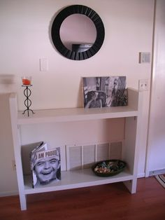 entry table, need 3 more shelves & the brackets & I'll be making this!