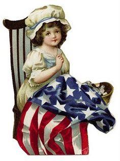 Vintage Patriotic Clip Art - For of July - The Graffical Muse Patriotic Images, Patriotic Crafts, July Crafts, Patriotic Decorations, Patriotic Party, Patriotic Posters, Happy 4 Of July, Fourth Of July, Vintage Cards