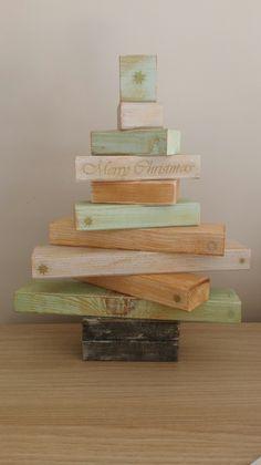 christmas tree/ árbol de navidad #diy #chalkpaint #decoupage