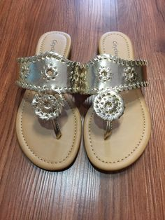 cd1f6b50bfab Inspired By Jack Rogers Sandals - Gold from Chocolate Shoe Boutique