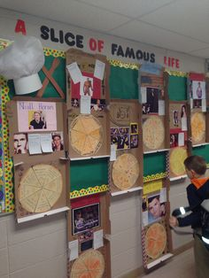 Pizza box biographies