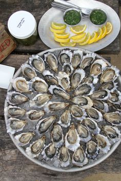 Hog Island Sweetwaters at The Boat Oyster Bar Oyster Bar, Mussels, Clams, Oysters, Stuffed Mushrooms, Laundry, Boat, Island, Vegetables