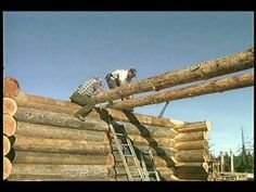 Foundation, sill log layout, floor joist - How to build a Log house - YouTube
